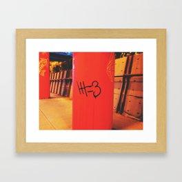 #=3 Framed Art Print