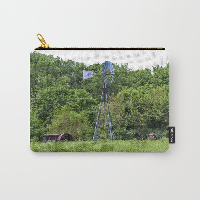 Vintage Farm Equipment Carry-All Pouch
