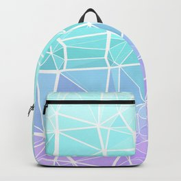 Cyan, Turquoise, and Purple Triangles Backpack