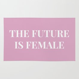The future is female pink-white Rug