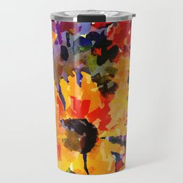 Golden Sunflower Garden Travel Mug