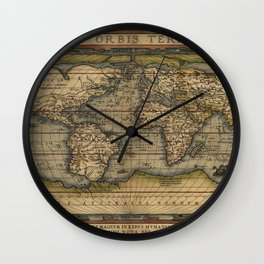 Antique Map of North and South America Wall Clock
