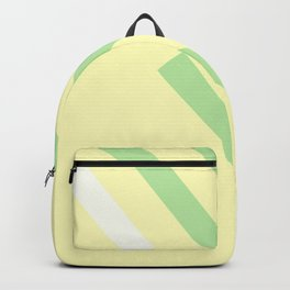 Green yellow white Backpack