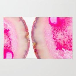 Shocking Pink Agate Rug
