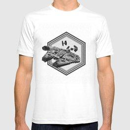Millennium Falcon Art - StarWars Dot-work Pointillism Fan Art T-shirt