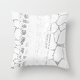 White Snake Skin Throw Pillow