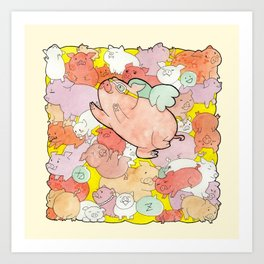 Pigs Gone Wild Art Print