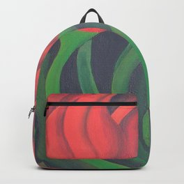 Red Tulip Diptych Backpack