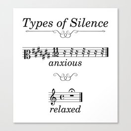 Types of silence Canvas Print