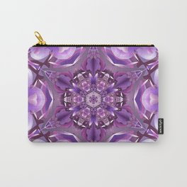 Truth Mandala in Purple, Pink and White Carry-All Pouch