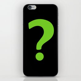 Enigma - green question mark iPhone Skin