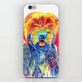 Colorful Tie Dye Wirehaired Pointing Griffon iPhone Skin