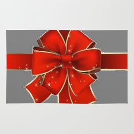 Red Bow on Silver Rug
