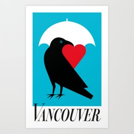 Vancouver's Canuck the Crow Art Print