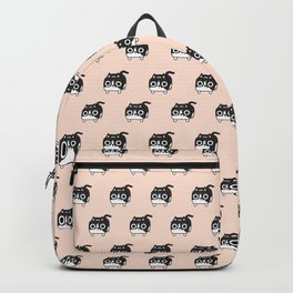 Cat Loaf - Tuxedo Kitty - Black and White Backpack