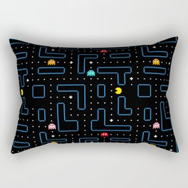 Pac-Man Retro Arcade Gaming Design Rectangular Pillow