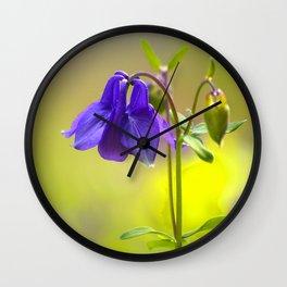 Purple Columbine In Spring Mood Wall Clock