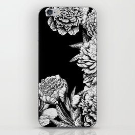 FLOWERS IN BLACK AND WHITE iPhone Skin