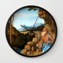 Cima da Conegliano Saint Jerome in the Wilderness Wall Clock
