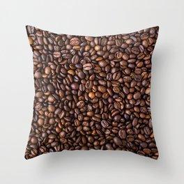 Coffee Bean Scene Throw Pillow