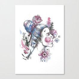 Inked Girl Canvas Print