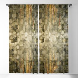"""""""Abstract golden river pebbles"""" Blackout Curtain"""