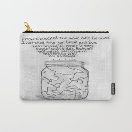 Grayscale Broken Jar Carry-All Pouch