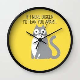 Purrfectly Honest Wall Clock