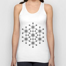 molecule. alien crop circle. flower of life and celtic patterns Unisex Tank Top