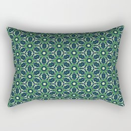 Green Cells Rectangular Pillow