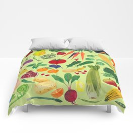 Fruits and Veggies Comforters