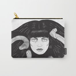 Queen of Atlantis B&W Carry-All Pouch