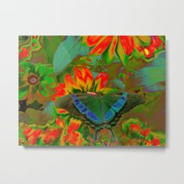 Extreme Emerald Swallowtail Butterfly Metal Print