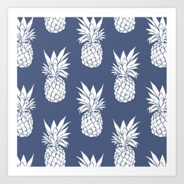 Pineapple Blues Art Print
