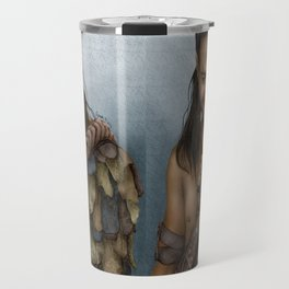 Nasir's Sneaky Smile (Nagron, Spartacus) Color Version Travel Mug