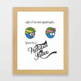 Natural Killer Cell and T lymphocyte Framed Art Print