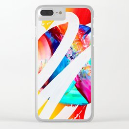 TRANS M U T E - TRANS M I T Clear iPhone Case