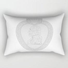Purple Heart Medal Outline Rectangular Pillow