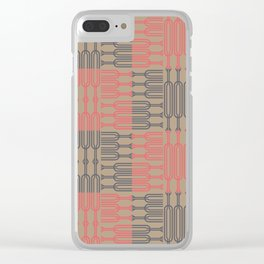 Bosque Gray&Pink Clear iPhone Case