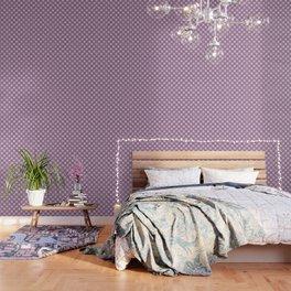 Abstract Circle Dots Purple Wallpaper