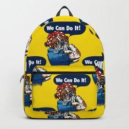 We Can Do It English Bulldog Backpack