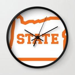 OSTATE Orange Wall Clock