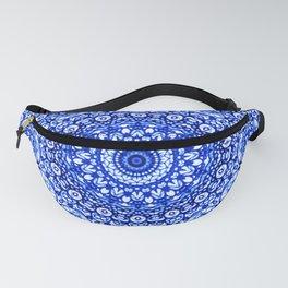 Blue Mandala Mehndi Style G403 Fanny Pack