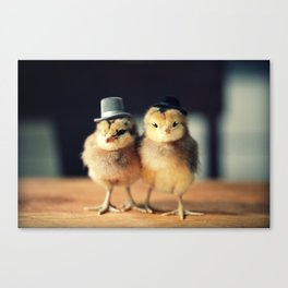 Chicks Wearing Top Hats Canvas Print