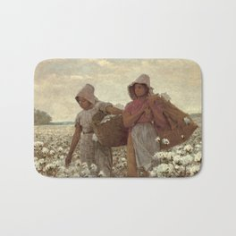 The Cotton Pickers by Winslow Homer, 1876 Bath Mat