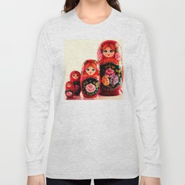 Babushka Russian Doll Long Sleeve T-shirt