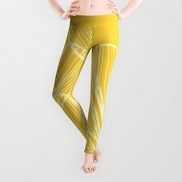 Golden Yellow Flora Leggings