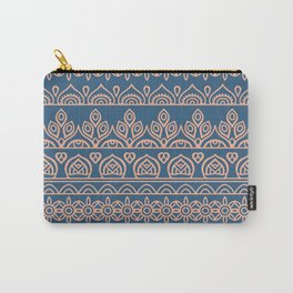 Stripes Mandala 12 Carry-All Pouch