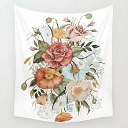 Roses and Poppies Wall Tapestry