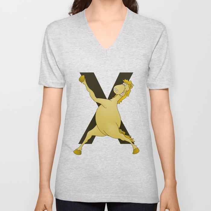 Monogram X Pony Unisex V-Neck